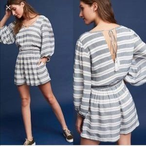 Anthropologie Holding Horses Striped Romper NWT